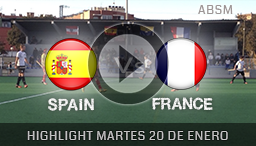 HIGHLIGHT FRIENDLY MATCHES HOCKEY CASTELLDEFELS 20th JANUARY 2015