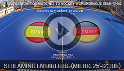 SPAIN - GERMANY (25 FEBRUARY) - Torneo Internacional 4 naciones de Hockey Hierba Valencia