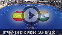 SPAIN Vs INDIA (16 FEB) - Torneo Internacional 4 naciones de Hockey Hierba Valencia