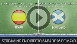 SPAIN PREPARATION MATCHES TO HOCKEY WORLD LEAGUE BARCELONA 16 MAYO 2015